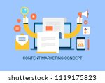 content marketing  searching on ... | Shutterstock .eps vector #1119175823