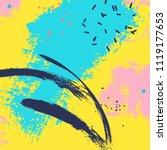 paint blue yellow brush stroke. ... | Shutterstock .eps vector #1119177653
