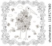 flowers marabu in flowers frame ...   Shutterstock .eps vector #1119177680