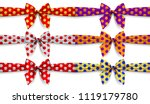 Set Of Polka Dot Ribbons With...
