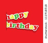 birthday card  flyer or cover... | Shutterstock .eps vector #111918518