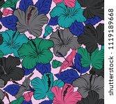 decorative ornament for fabric  ...   Shutterstock .eps vector #1119189668