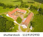 aerial view of farm house in... | Shutterstock . vector #1119192950