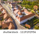 aerial view of baroque church... | Shutterstock . vector #1119192956