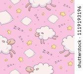 pink seamless vector pattern... | Shutterstock .eps vector #1119193196