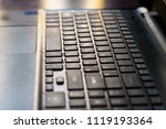 close up of keyboard of a... | Shutterstock . vector #1119193364