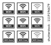 wireless signs set  wifi icons | Shutterstock .eps vector #1119196679