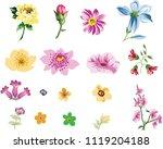 set of cute small flower   Shutterstock .eps vector #1119204188