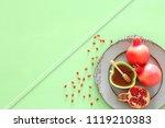 rosh hashanah  jewish new year... | Shutterstock . vector #1119210383