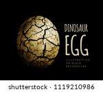 egg of a dinosaur on a black... | Shutterstock . vector #1119210986