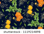 floral seamless pattern with...   Shutterstock .eps vector #1119214898