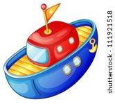 Illustration Of A Ship On A...