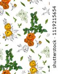 floral seamless pattern with...   Shutterstock .eps vector #1119215654