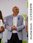 London, United Kingdom, 23rd June 2018:- Vince Cable MP Leader of the Liberal Democrats at The March for a People's Vote in Central London - stock photo