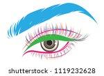 illustration of eye makeup and... | Shutterstock .eps vector #1119232628