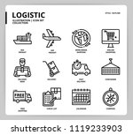 logistic icon set    Shutterstock .eps vector #1119233903