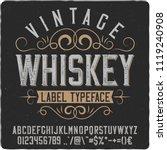 vintage decorative font named ... | Shutterstock .eps vector #1119240908