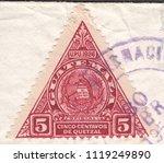 guatemala circa 1929 a stamp... | Shutterstock . vector #1119249890