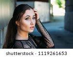 emotional portrait of fashion... | Shutterstock . vector #1119261653