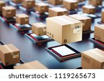 packages are transported in... | Shutterstock . vector #1119265673