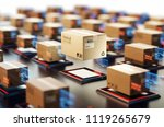 packages are transported in... | Shutterstock . vector #1119265679