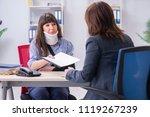injured employee visiting...   Shutterstock . vector #1119267239