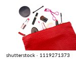 cosmetics in a pocket with a... | Shutterstock . vector #1119271373