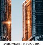 a narrow pass between two... | Shutterstock . vector #1119272186