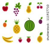 fruits and berries set. vector... | Shutterstock .eps vector #111927710
