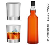 Whisky Bottle Glass Imockup Set....