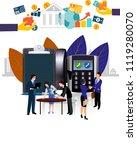 vector illustration. meeting of ... | Shutterstock .eps vector #1119280070