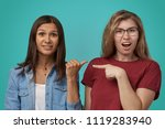 bullying  friendship and people ... | Shutterstock . vector #1119283940