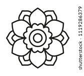 simple mandala. vector lines. | Shutterstock .eps vector #1119286379
