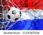 vector illustration football...   Shutterstock .eps vector #1119287036