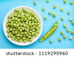 a white bowl filled with fresh... | Shutterstock . vector #1119290960