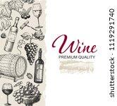 vector wine background. winery...   Shutterstock .eps vector #1119291740