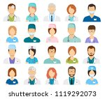 professional doctor avatars... | Shutterstock .eps vector #1119292073