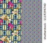 trendy floral seamless pattern... | Shutterstock .eps vector #1119294740