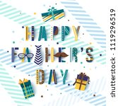 happy father's day greetings... | Shutterstock .eps vector #1119296519