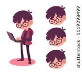 geek  nerd and smart of... | Shutterstock .eps vector #1119298499