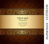 vintage background  antique ... | Shutterstock .eps vector #111930146