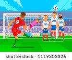 free kick in football. scene of ... | Shutterstock .eps vector #1119303326