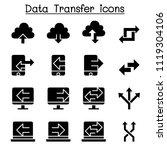 computer data transfer icon set  | Shutterstock .eps vector #1119304106