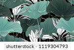 botanical seamless pattern ... | Shutterstock .eps vector #1119304793