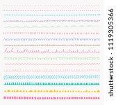 set of colorful line grunge... | Shutterstock .eps vector #1119305366