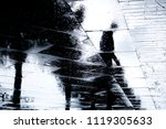 blurry reflection  silhouette... | Shutterstock . vector #1119305633