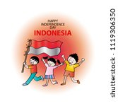 independence day of indonesia.... | Shutterstock .eps vector #1119306350