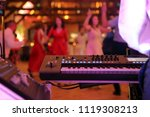 dancing couples during party... | Shutterstock . vector #1119308213