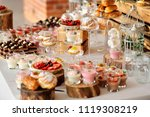 catering sweets  closeup of... | Shutterstock . vector #1119308219