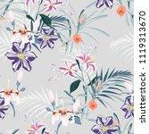seamless pattern  light vintage ... | Shutterstock .eps vector #1119313670